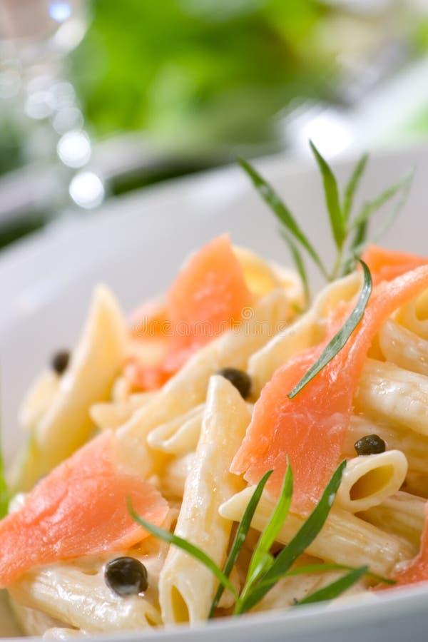 Pasta di color salmone fotografia stock