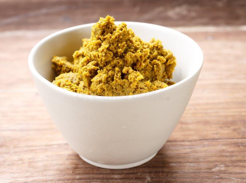Pasta di curry verde fotografia stock
