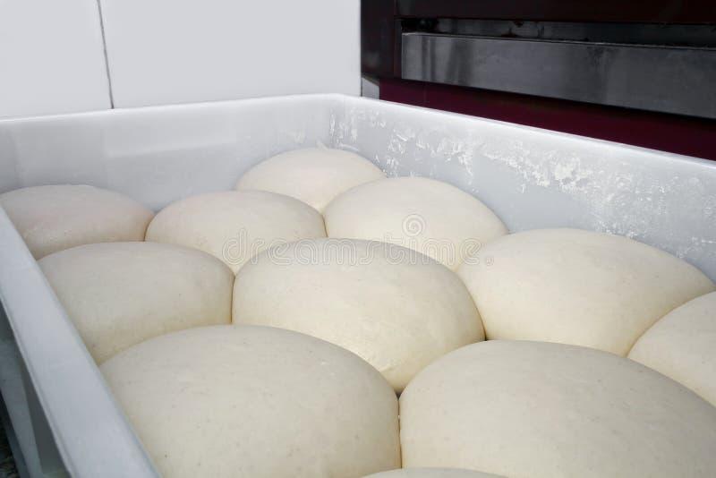 Pasta di lievito per pizza fotografie stock