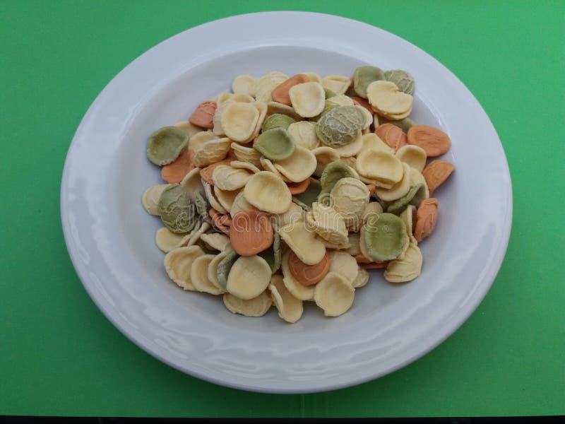 Pasta di Orecchiette dall'Italia immagini stock
