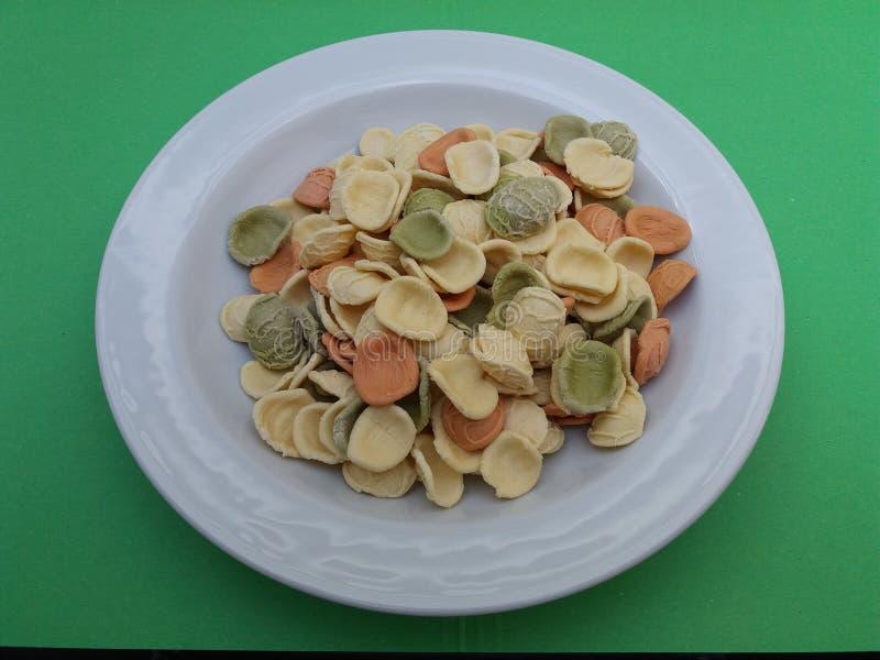 Pasta di Orecchiette dall'Italia fotografia stock