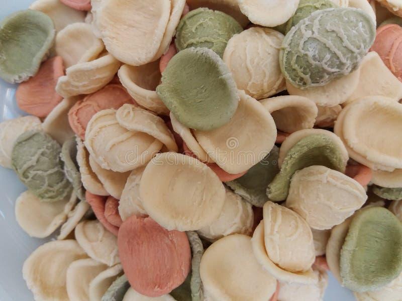Pasta di Orecchiette dall'Italia immagine stock