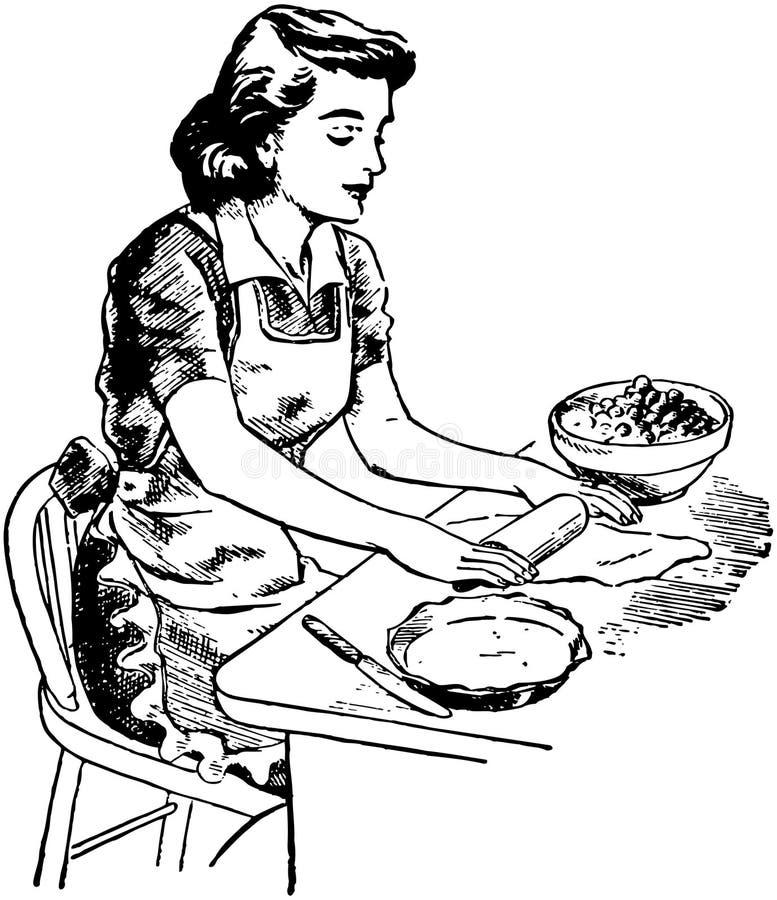 Pasta di rotolamento royalty illustrazione gratis
