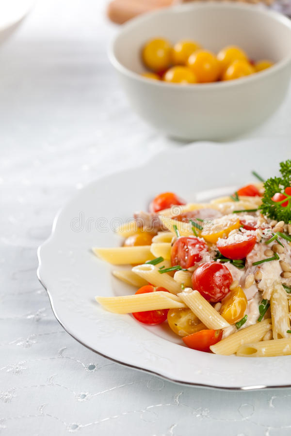Pasta dish royalty free stock photos