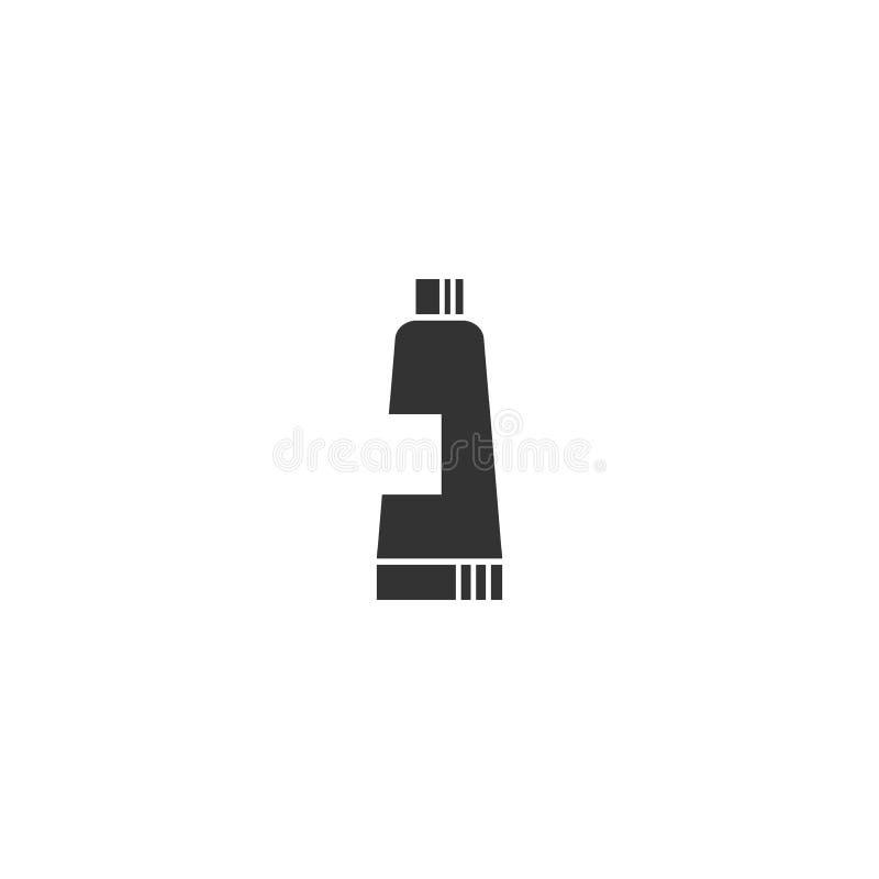 Pasta do zębów lub kosmetyki rurujemy czerń odizolowywającą ikonę ilustracja wektor