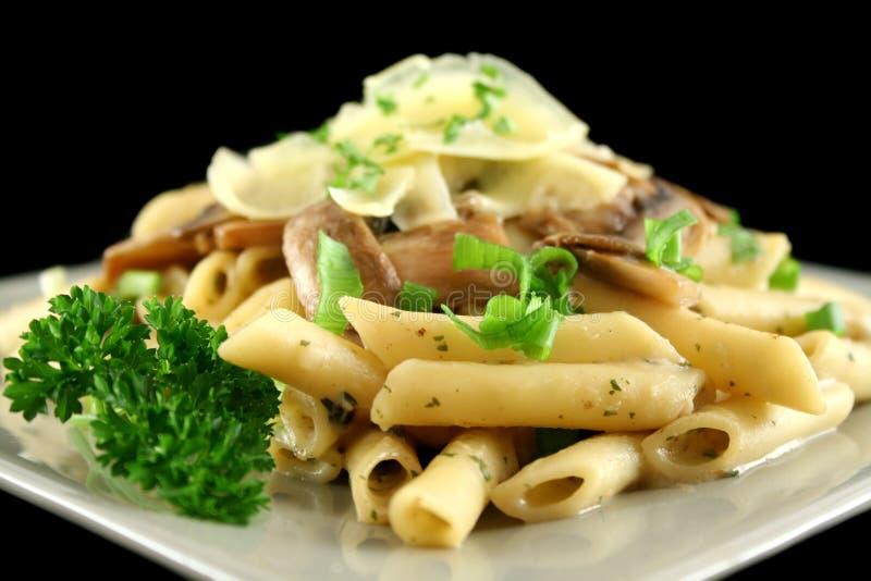 pasta för 3 champinjon fotografering för bildbyråer