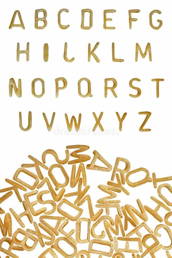 pasta för mat för alfabetbakgrundsstilsort arkivfoto