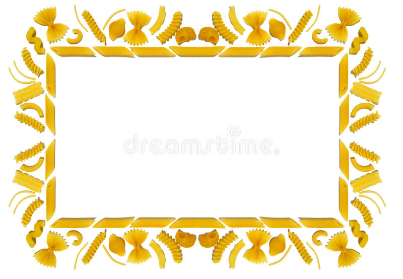 Pasta frame stock photography