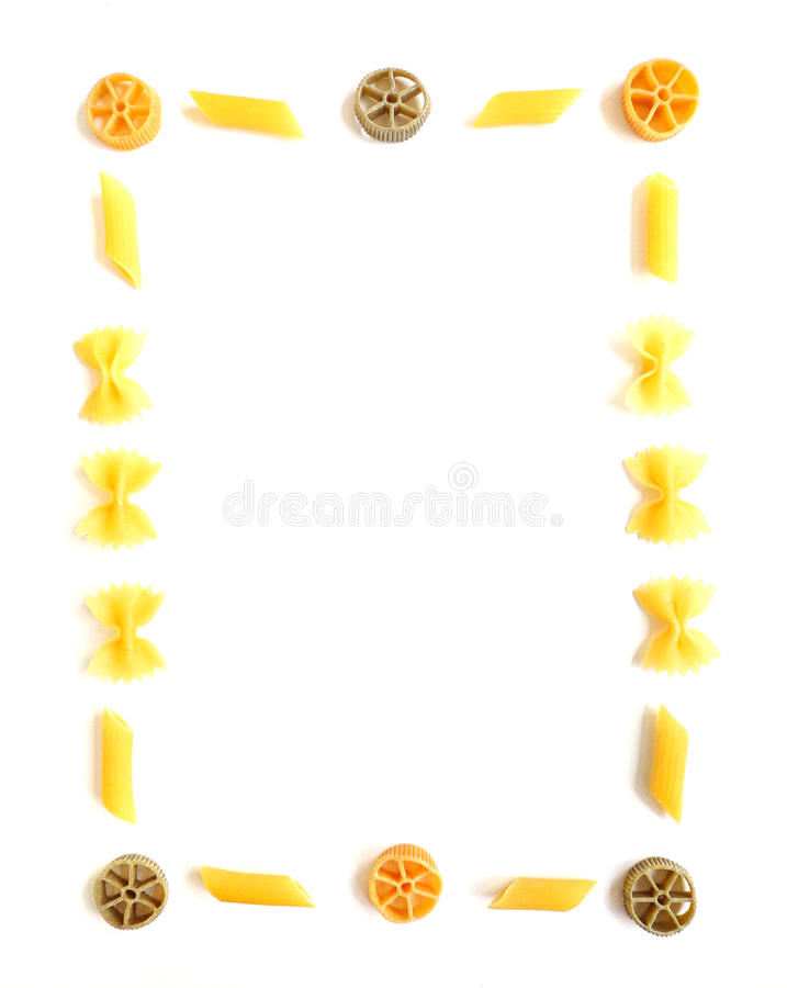 Pasta frame colorful stock images