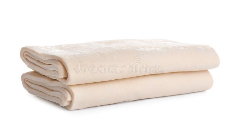 Pasta fresca en el fondo blanco foto de archivo