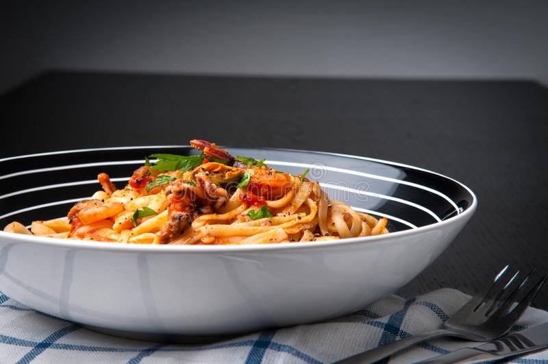 Pasta Frutti Di Mare Stock Photography