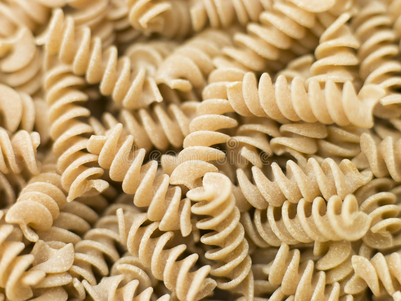 Pasta, Fusilli Whole Wheat royalty free stock image