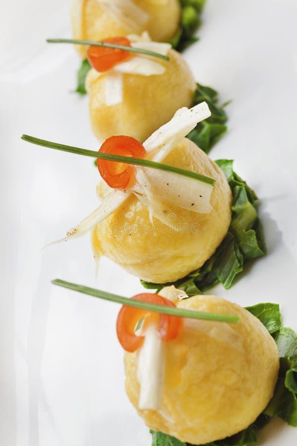 Fin äta middag aptitretare för italienare royaltyfria bilder