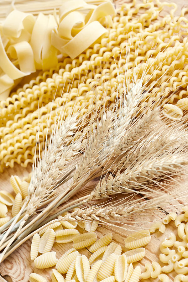 Pasta and grains stock images