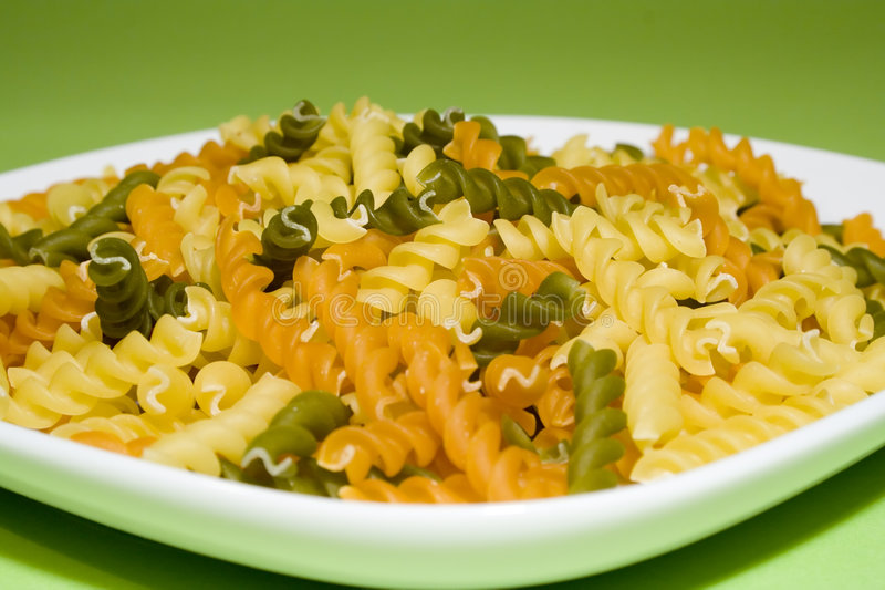 Download Pasta on green background stock photo. Image of macaroni - 1752316