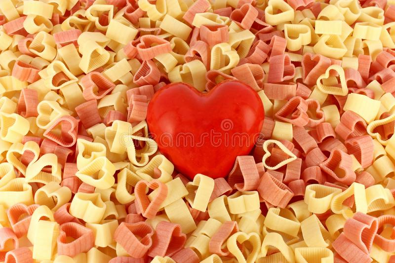 Download Pasta and a heart stock photo. Image of uncooked, culinary - 16796680