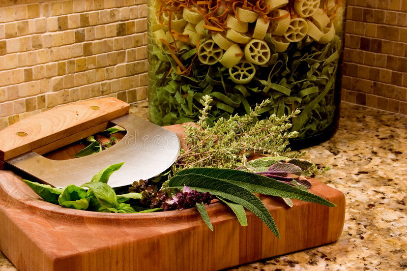 Download Pasta & Herbs stock image. Image of preparation, spices - 201339