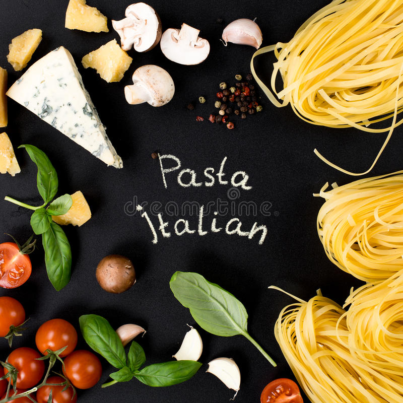 Pasta ingredients. royalty free stock images