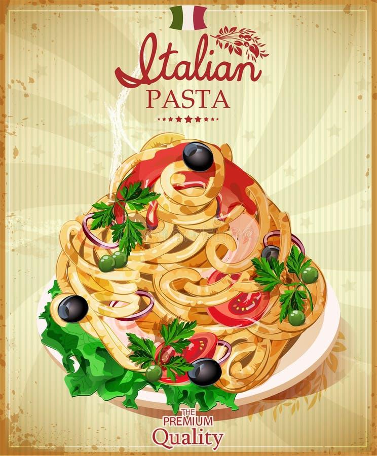 Pasta italiana illustrazione vettoriale