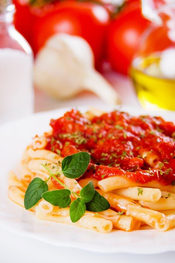 Pasta italiana dei maccheroni immagine stock libera da diritti