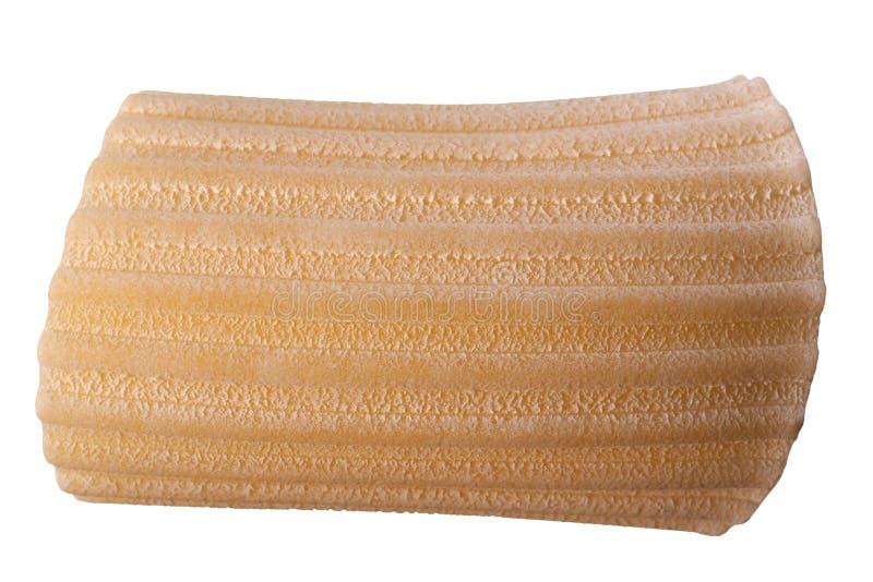 Pasta italiana di Manicotti isolata sopra bianco immagini stock