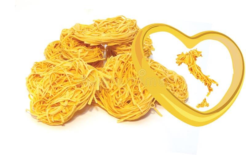 Pasta lasagna worked and Italian egg.  royalty free stock photos