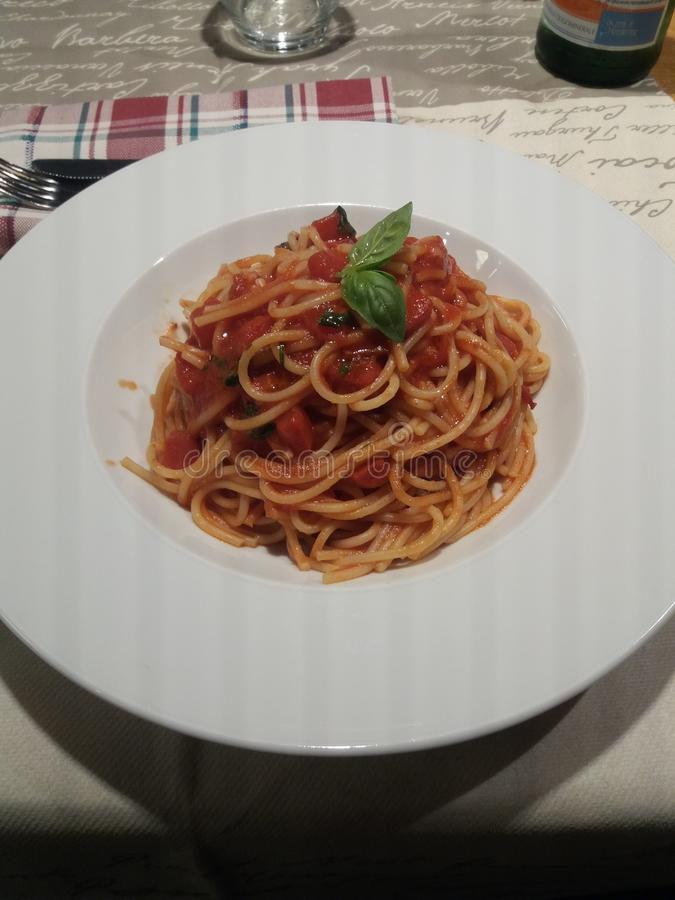 Pasta meal. Food for my soul stock photo