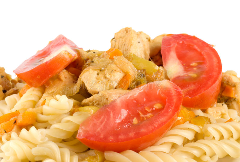Download Pasta with meat stock photo. Image of pasta, colored - 15445650