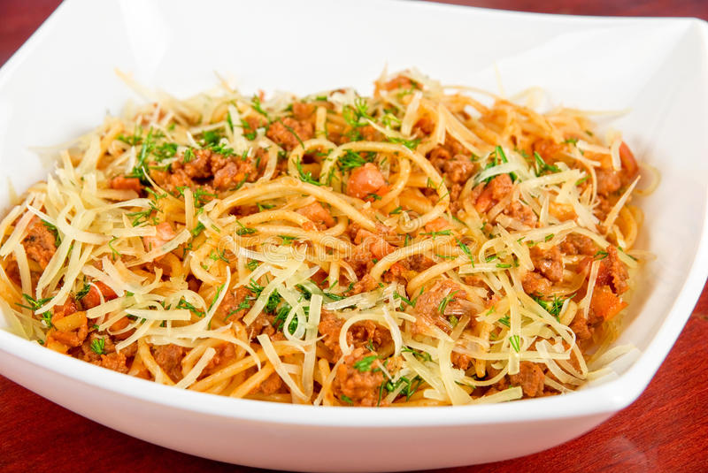 Download Pasta with meat stock image. Image of nobody, parmesan - 24798991