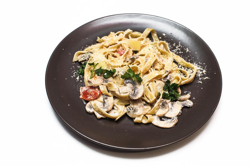 Download Pasta With Mushrooms Stock Photo - Image: 83720998