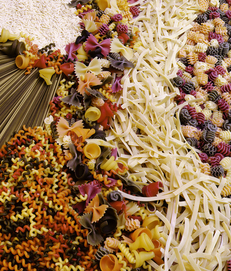 Pasta and noodles stock images