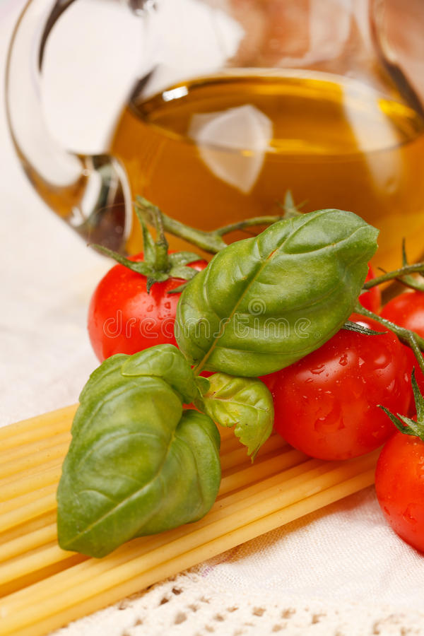 Download Pasta, Olive Oil And Tomatoes Stock Photos - Image: 19232163