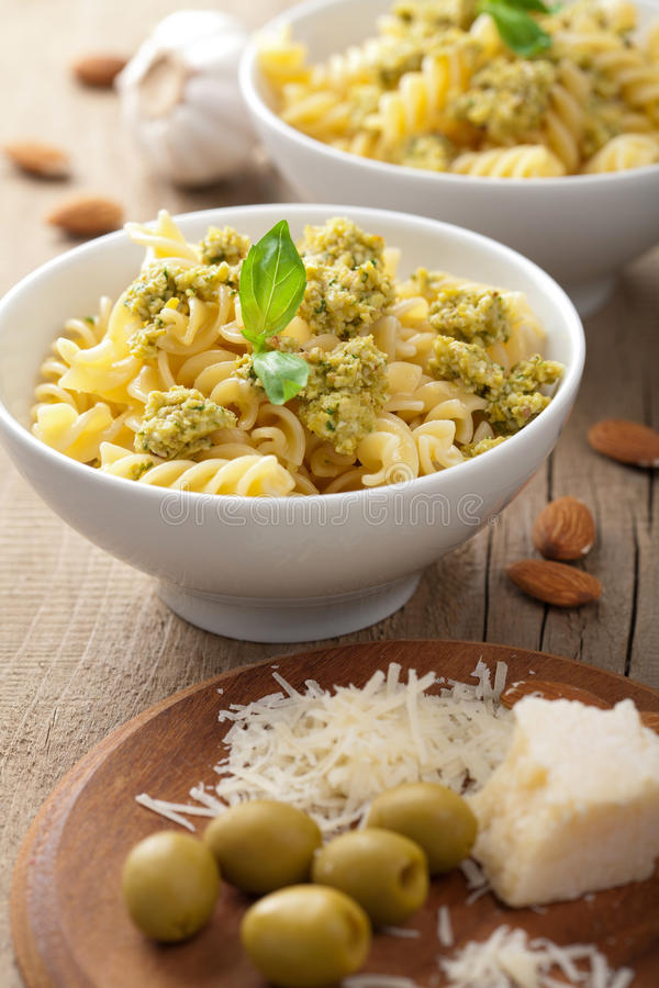 Download Pasta with olive tapenade stock photo. Image of delicious - 26539236