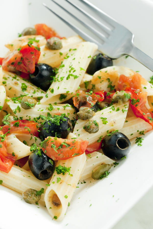 Pasta penne stock photography