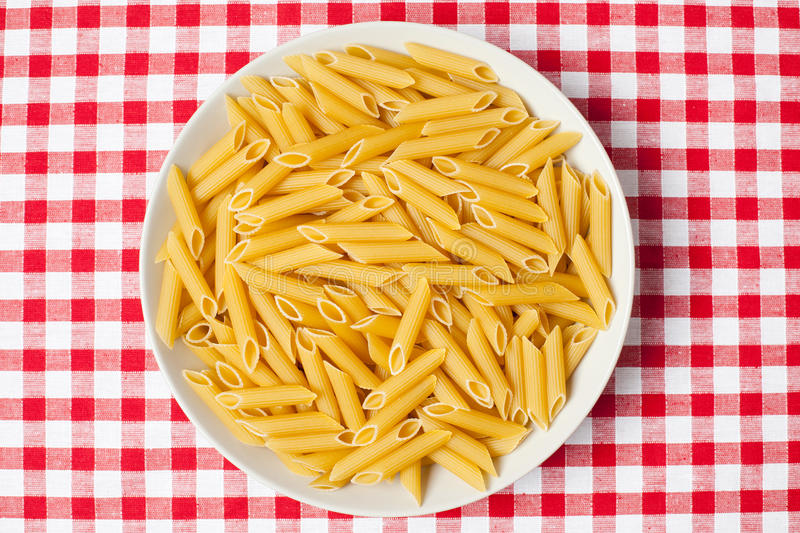 Download Pasta In Plate On Picnic Tablecloth Stock Image - Image: 15467807