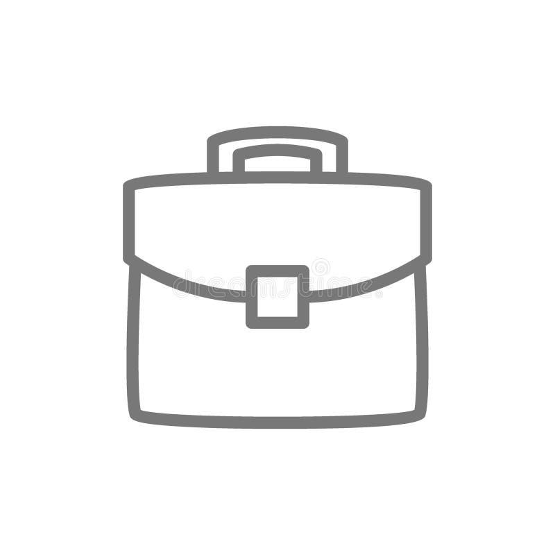 Pasta, portfólio, linha ícone do saco ilustração royalty free
