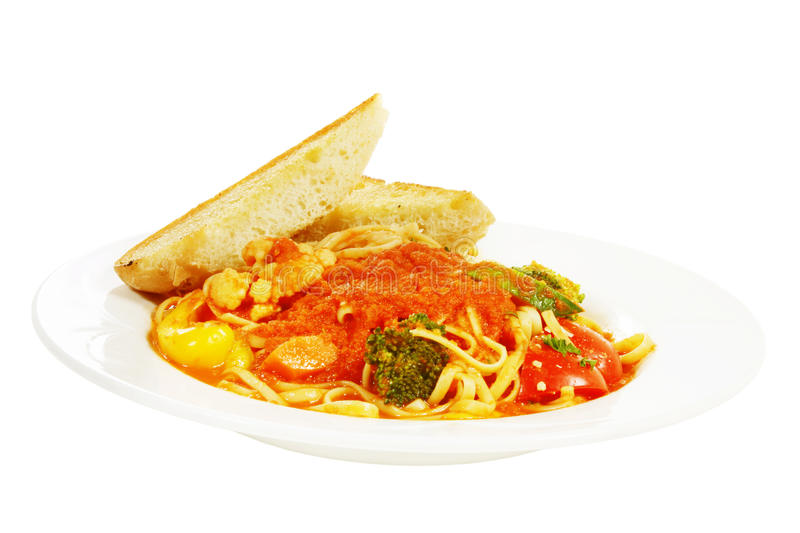 Download Pasta primavera stock image. Image of bread, serve, meal - 19136689