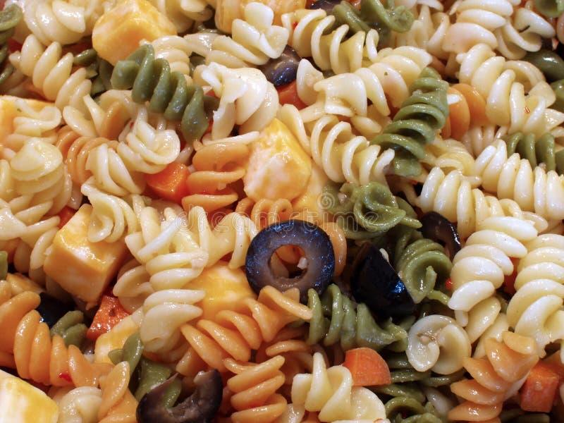 Pasta Salad. A plate of pasta salad stock image