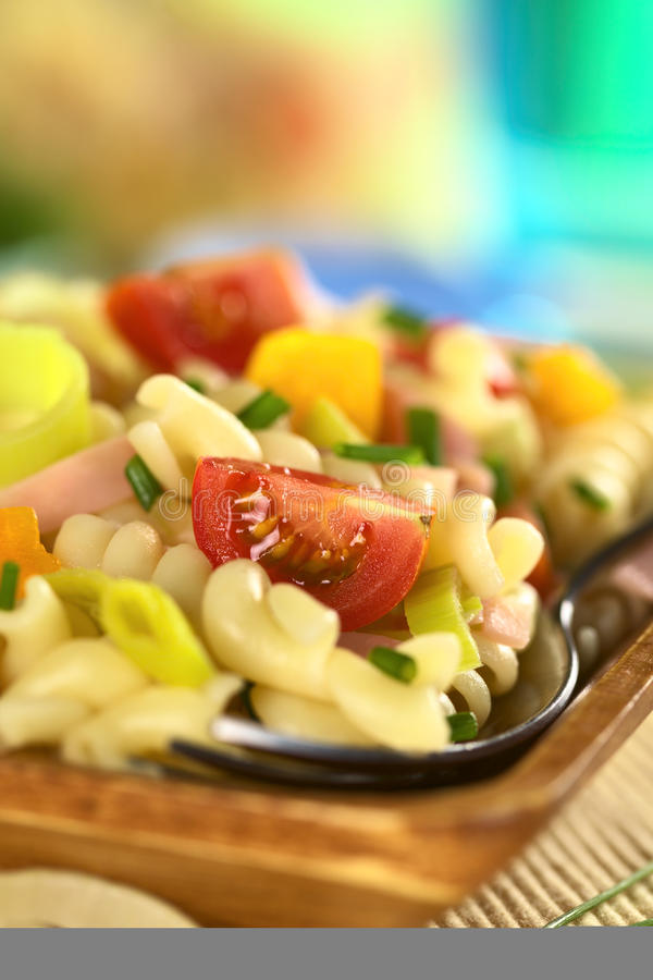 Download Pasta Salad stock image. Image of mixed, meat, cherry - 22016517