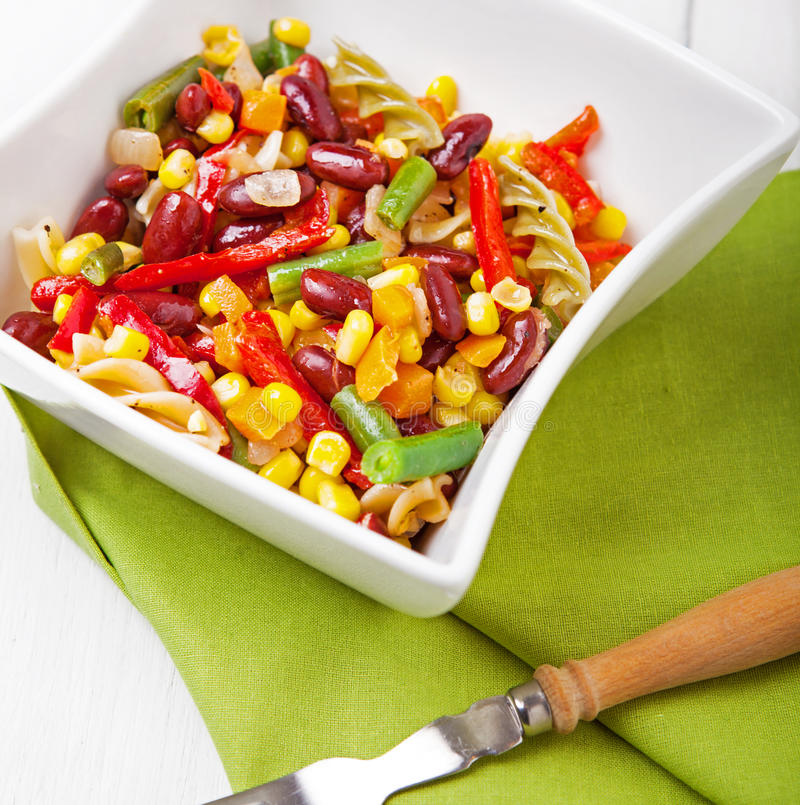 Pasta Salad. Mexican mix and pasta. Pasta Salad. Mexican mix and pasta stock photos