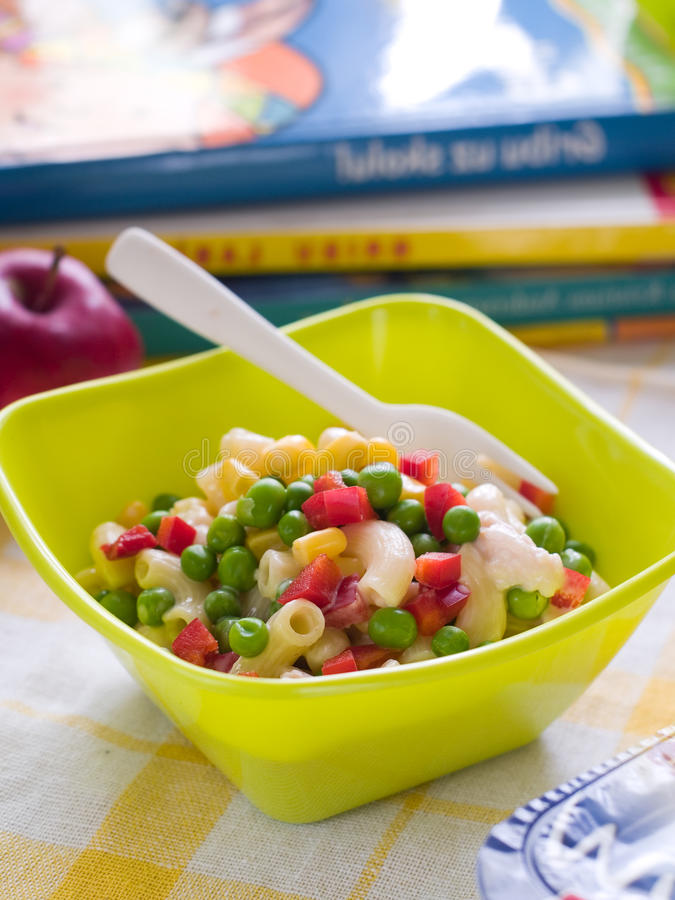Download Pasta salad stock photo. Image of vegetable, corn, kids - 33412830