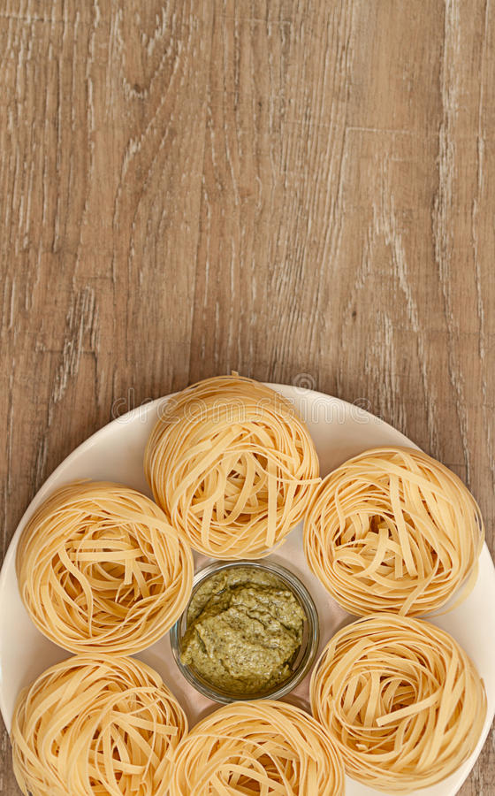 Pasta and Sauces royalty free stock photo