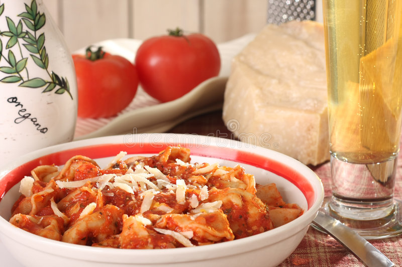 Pasta Supper Royalty Free Stock Photo