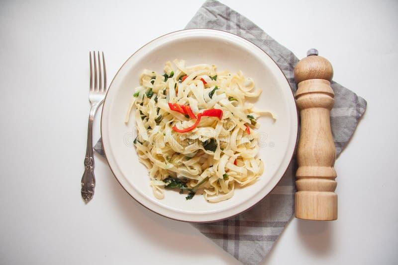 Pasta vegetariana fotografia stock libera da diritti