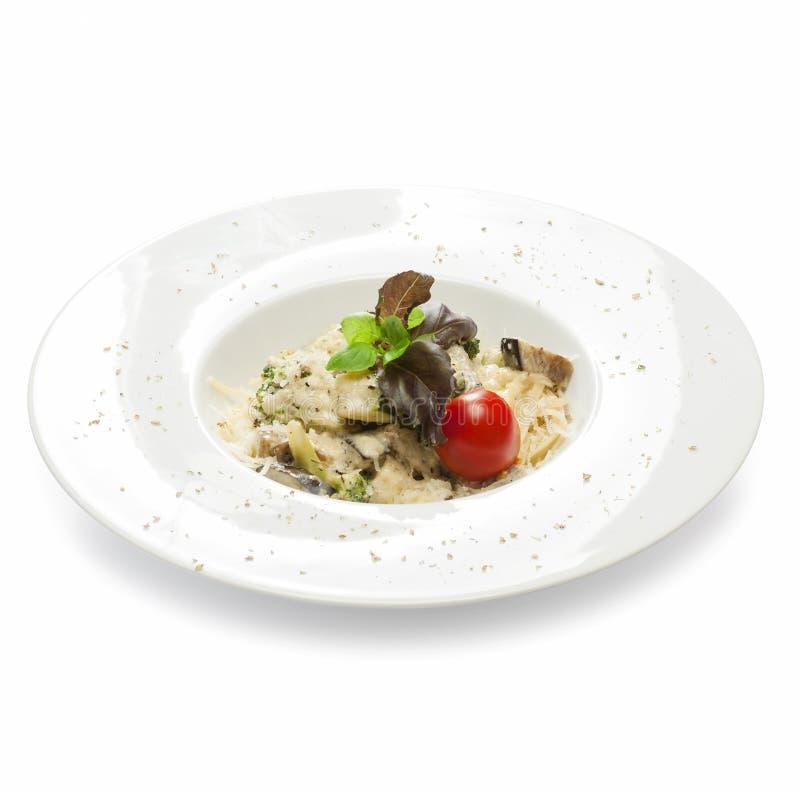 Pasta vegetariana di recente cucinata con lo zucchini, broccoli, zucca, fotografia stock