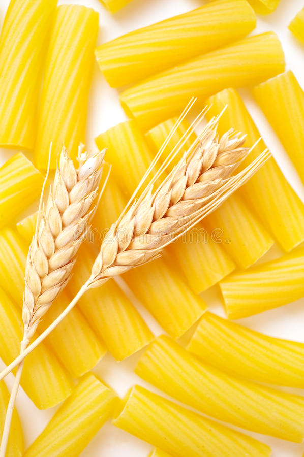Download Pasta with wheat ears stock image. Image of dried, ears - 22710823