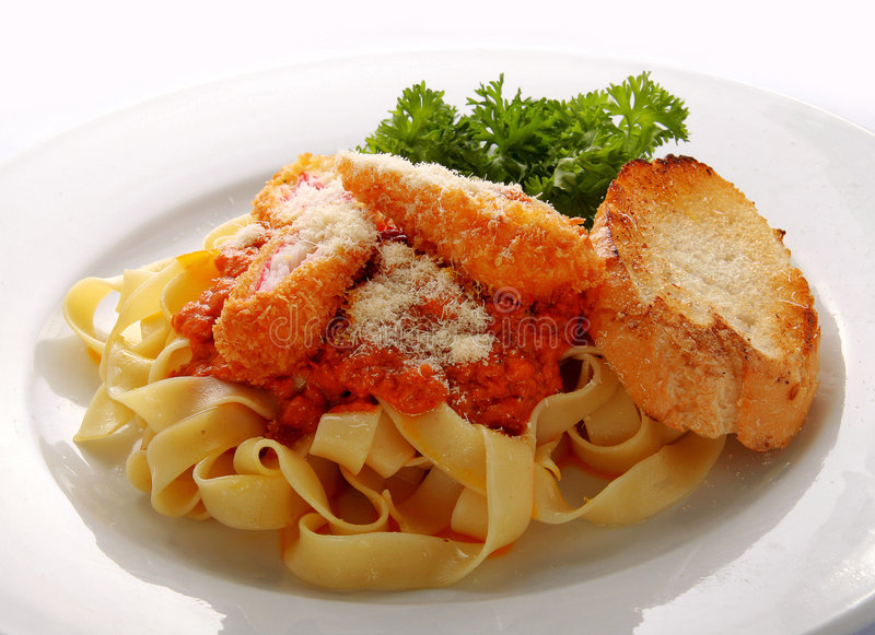 Download Pasta on white plate stock image. Image of parmesan, toasted - 2302745