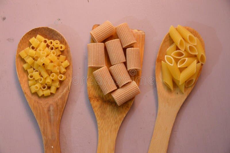 Mix italian pasta stock images