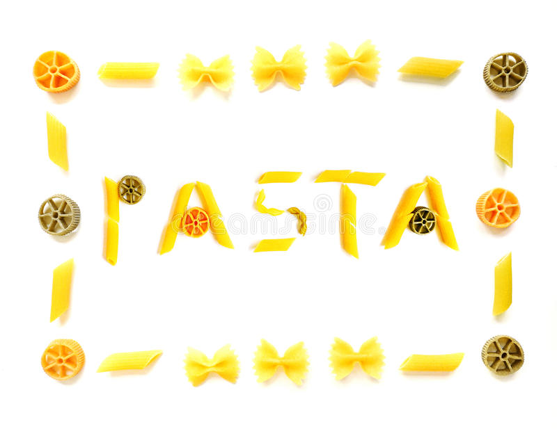 download pasta word with frame stock photo image of different 9573640 - Word Frame