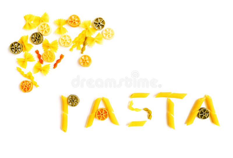 Download Pasta Word Shapes Stock Photos - Image: 9546583